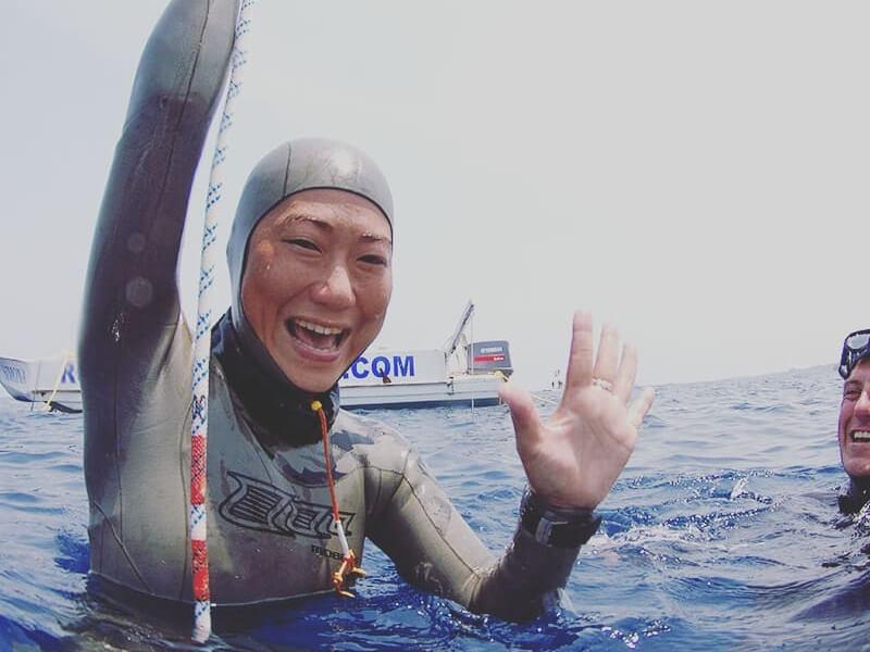Sayuri kinoshita freediver