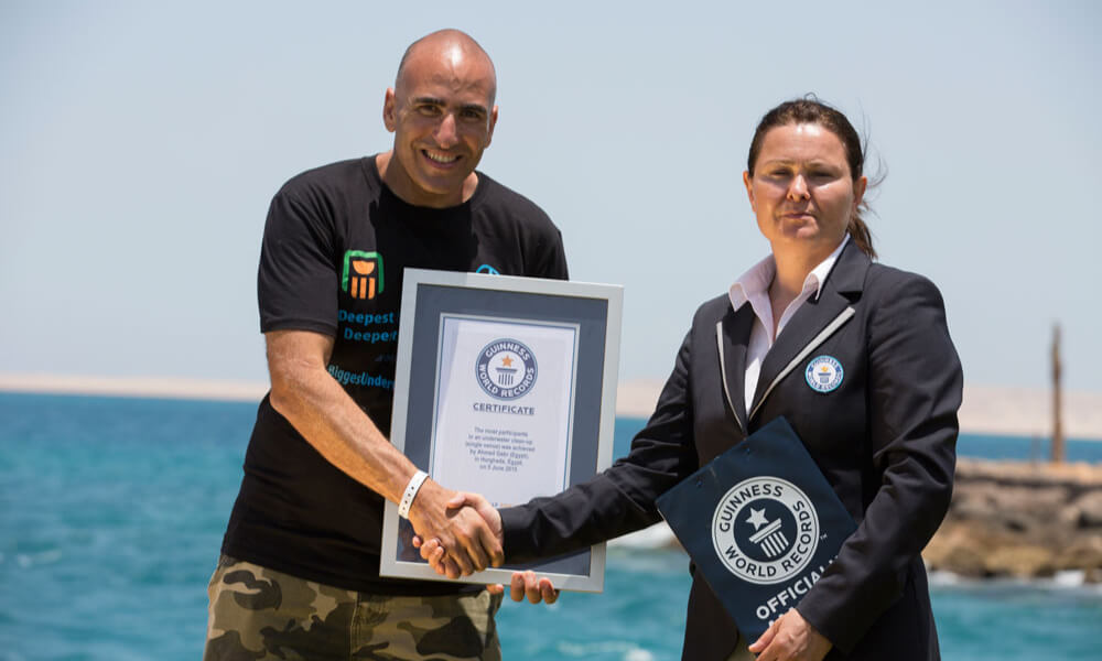 ahmed gabr guinness record