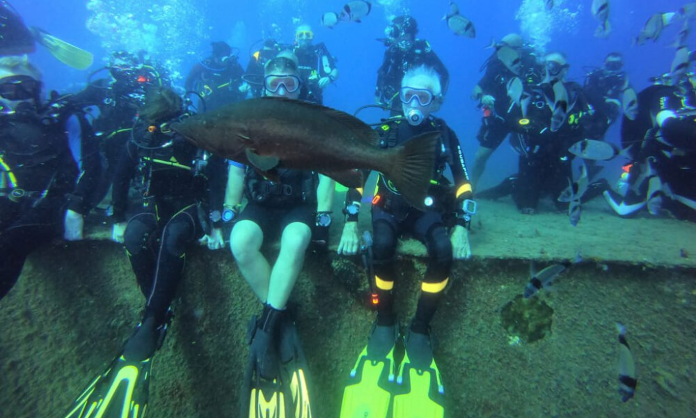Wallace Raymond Woolley. oldest scuba diver in the world
