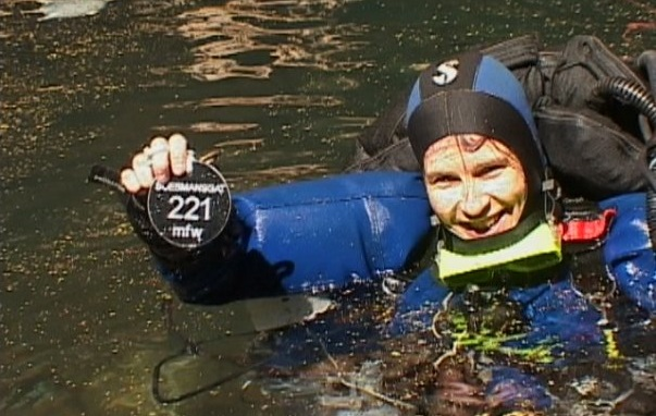 Verna van Schaik record dive