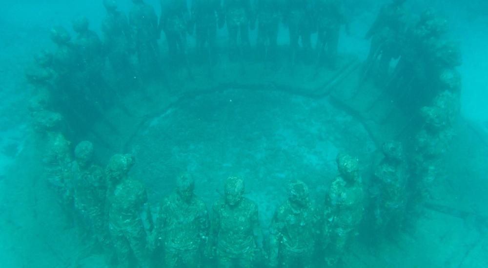 underwater museums Molinere Underwater Sculpture Park, Grenada