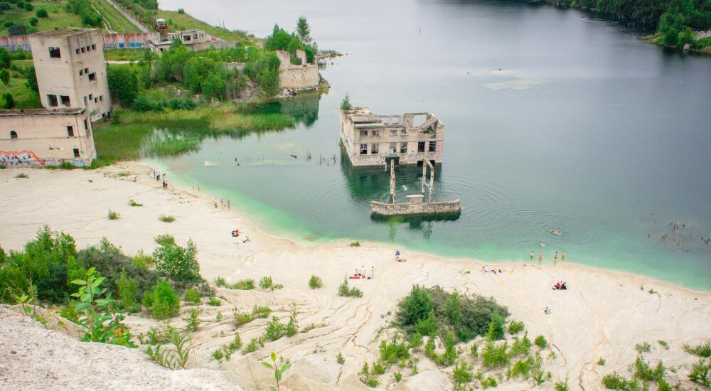 rummu quarry unusual dive site