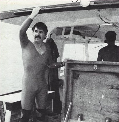 Tony Farmer of Sports Suits of Australia, inventor of the dive skin