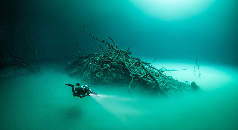 cenote angelita, one of the creepiest dive sites in the world