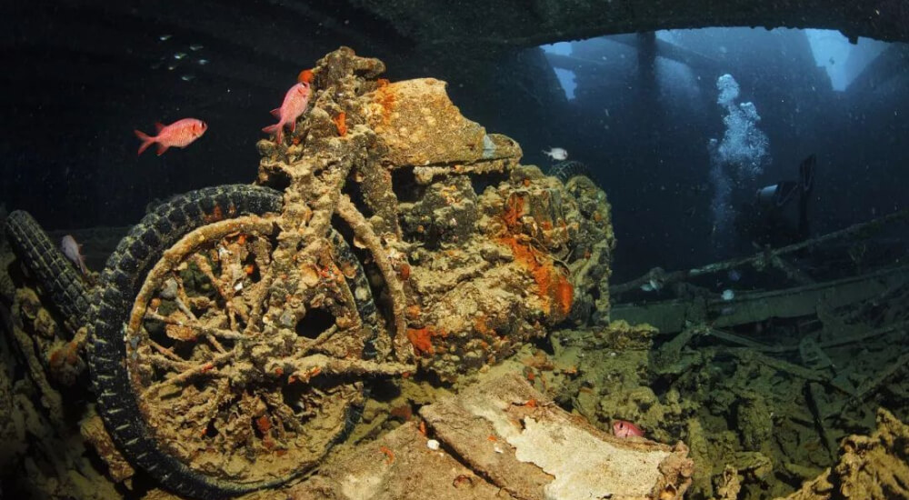 SS Thistlegorm wreck, one of the most famous shipwrecks in the world