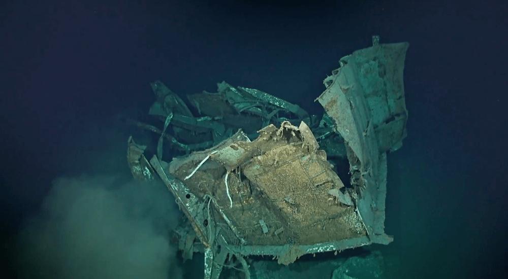 uss johnston, WWII destroyer mapped and filmed